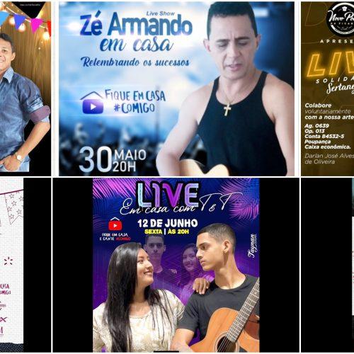 Márcio Balla, Darlan Alves, Zé Armando e outros artistas da região farão transmissões ao vivo; confira a agenda de lives!