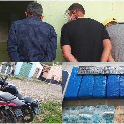 PM de Simplício Mendes conduz 4 suspeitos e apreende drogas, motocicletas e celulares