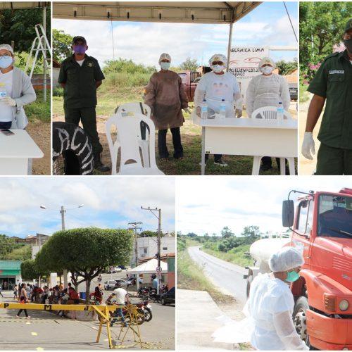 Barreiras sanitárias reforçam ações de combate ao coronavírus em Jaicós