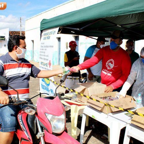 Saúde de Bocaina distribui máscaras, álcool gel e destaca ações de combate à COVID-19