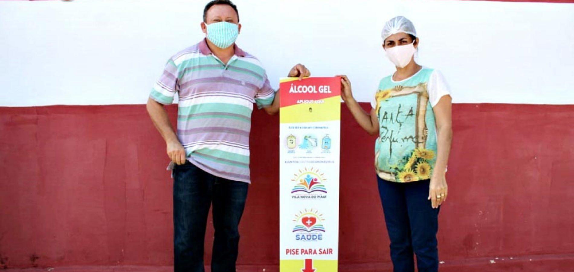 Saúde de Vila Nova distribui totens de álcool em gel em pontos da ...