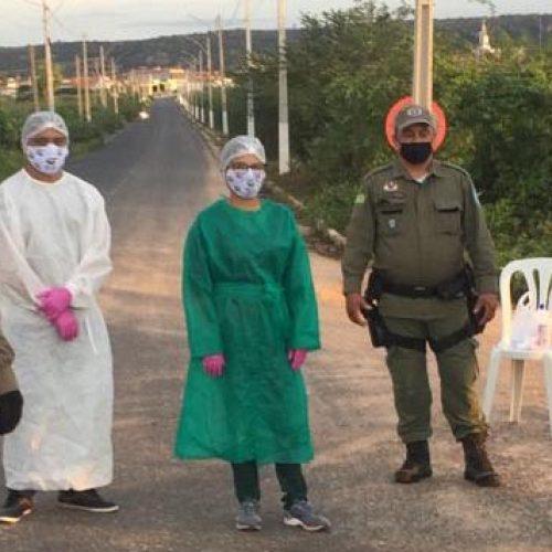 GPM e Vigilância Sanitária de Monsenhor Hipólito seguem fiscalização no combate à Covid-19