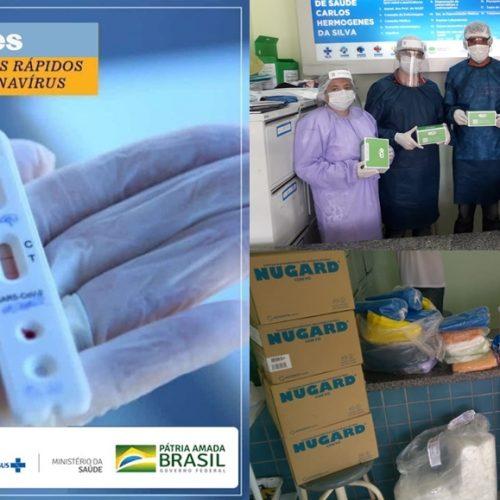 Saúde de Vera Mendes faz aquisição de testes rápidos e EPI's para enfrentamento da covid-19