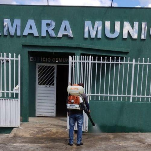 Câmara de Massapê do Piauí passa por desinfecção em prevenção ao coronavírus