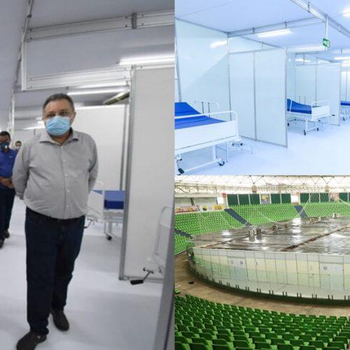 Governador inaugura hospital de campanha no Verdão que atenderá 103 pacientes