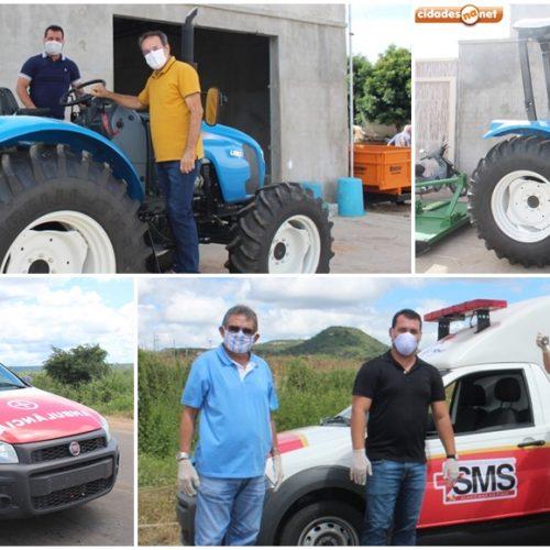 Prefeito Jorismar adquire trator e ambulância para reforçar frota de veículos em Alagoinha do Piauí