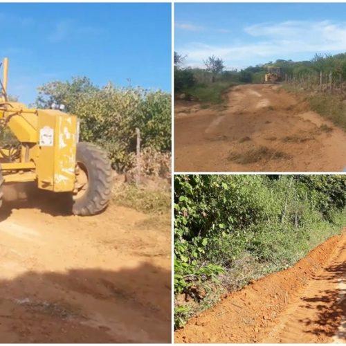 Prefeito Nonato acompanha serviços de recuperação de estradas em Francisco Macedo