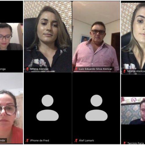 Em videoconferência, gestores de Francisco Macedo discutem protocolo adotado em Floriano