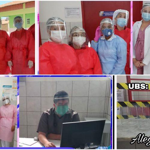 Grupo 'Por Amor' doa equipamentos de proteção facial para profissionais da Saúde de Alegrete do Piauí