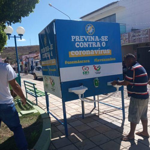 Prefeitura de Vera Mendes instala lavatórios em locais públicos