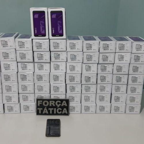 Força Tática de Paulistana recupera carga de celulares roubada em São Paulo e avaliada em quase meio milhão de reais