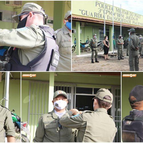JAICÓS | Em solenidade restrita, 3ª CIA comemora 185 anos da PM e homenageia policiais promovidos