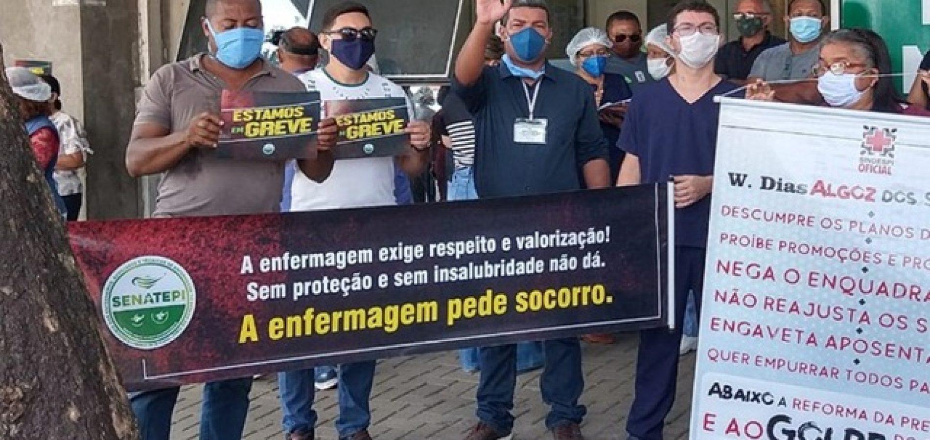 Enfermeiros e técnicos de enfermagem da rede estadual do Piauí iniciam greve