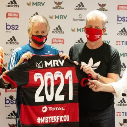 Flamengo oficializa renovação com Jorge Jesus até junho de 2021 e mira Mundial