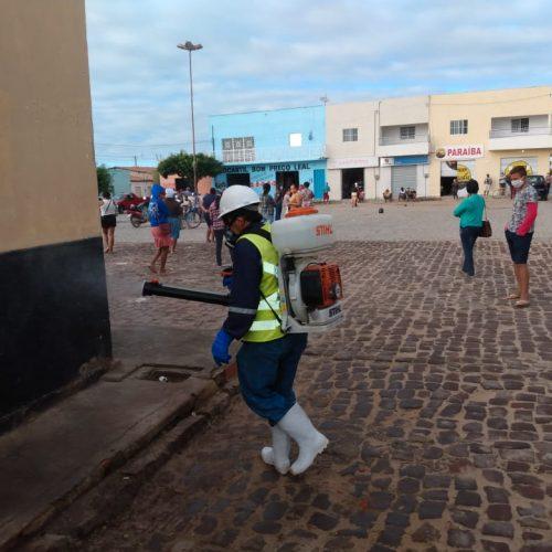 Prefeitura de Campo Grande do Piauí intensifica pulverização de ruas em combate ao Coronavírus
