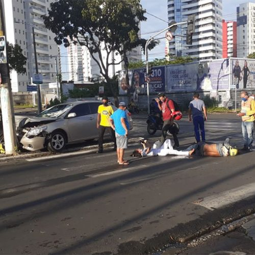 Acidente deixa três feridos em Teresina