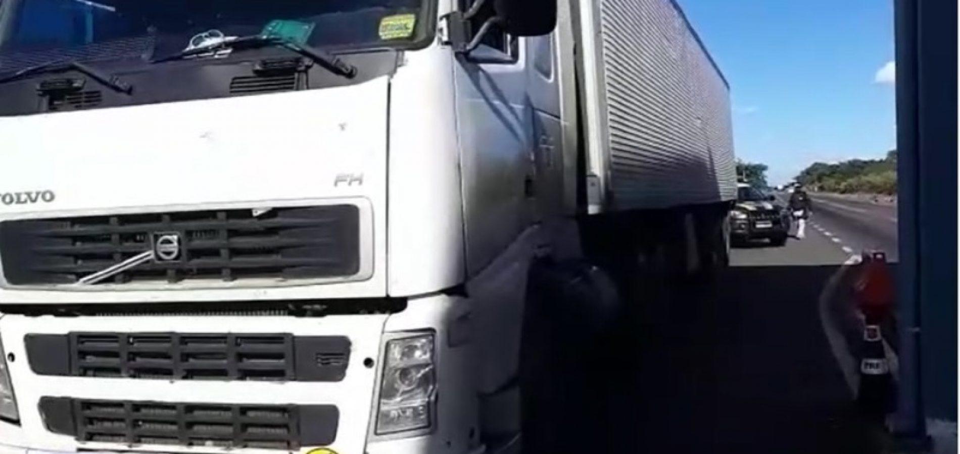 PRF prende, em Valença do Piauí, integrante de quadrilha especializada em roubo de carga; veja vídeos
