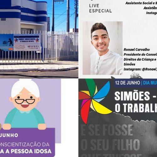 Em meio à pandemia, Social de Simões promove campanhas contra a violação dos direitos de crianças e idosos
