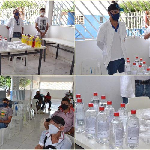 SIMÕES | Comissão de Defesa Civil distribui álcool, máscaras e detergentes aos pipeiros