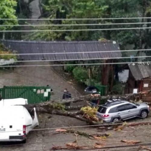 Ciclone em Santa Catarina faz estragos e assusta moradores; veja vídeos