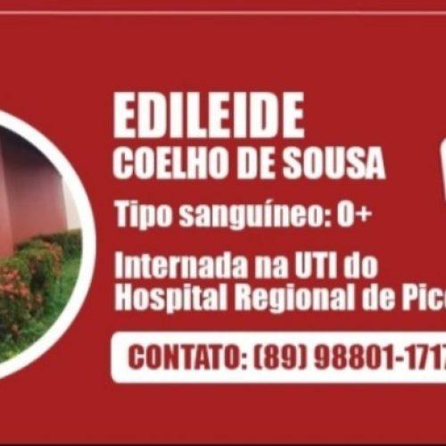 Jovem que está na UTI do Hospital de Picos precisa de sangue e amigos fazem campanha