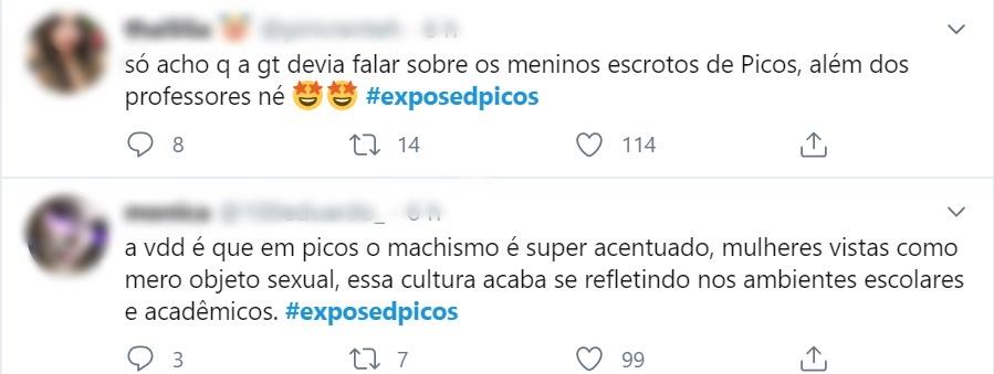 Estudantes expõem, no Twitter, assédio sexual de professores em Picos 7