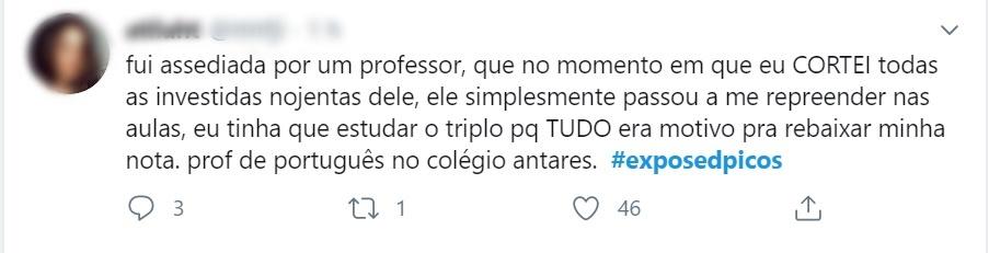 Estudantes expõem, no Twitter, assédio sexual de professores em Picos 8