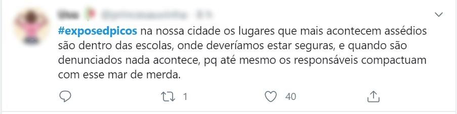 Estudantes expõem, no Twitter, assédio sexual de professores em Picos 10