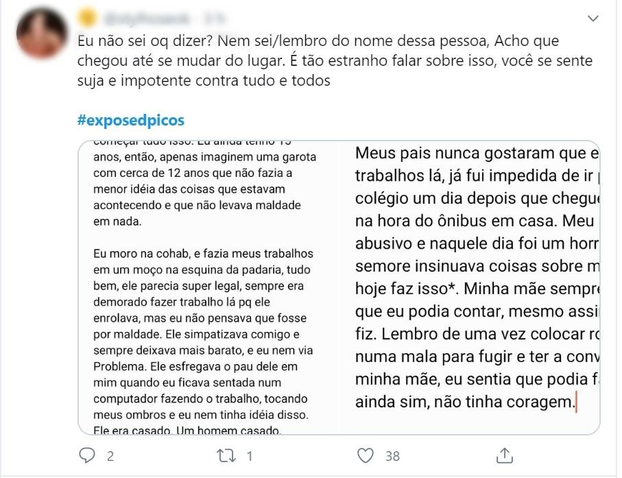 Estudantes expõem, no Twitter, assédio sexual de professores em Picos 6