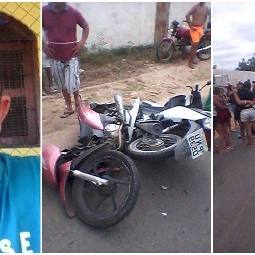 MONSENHOR HIPÓLITO | Colisão violenta envolvendo três motocicletas deixa uma pessoa morta e duas feridas