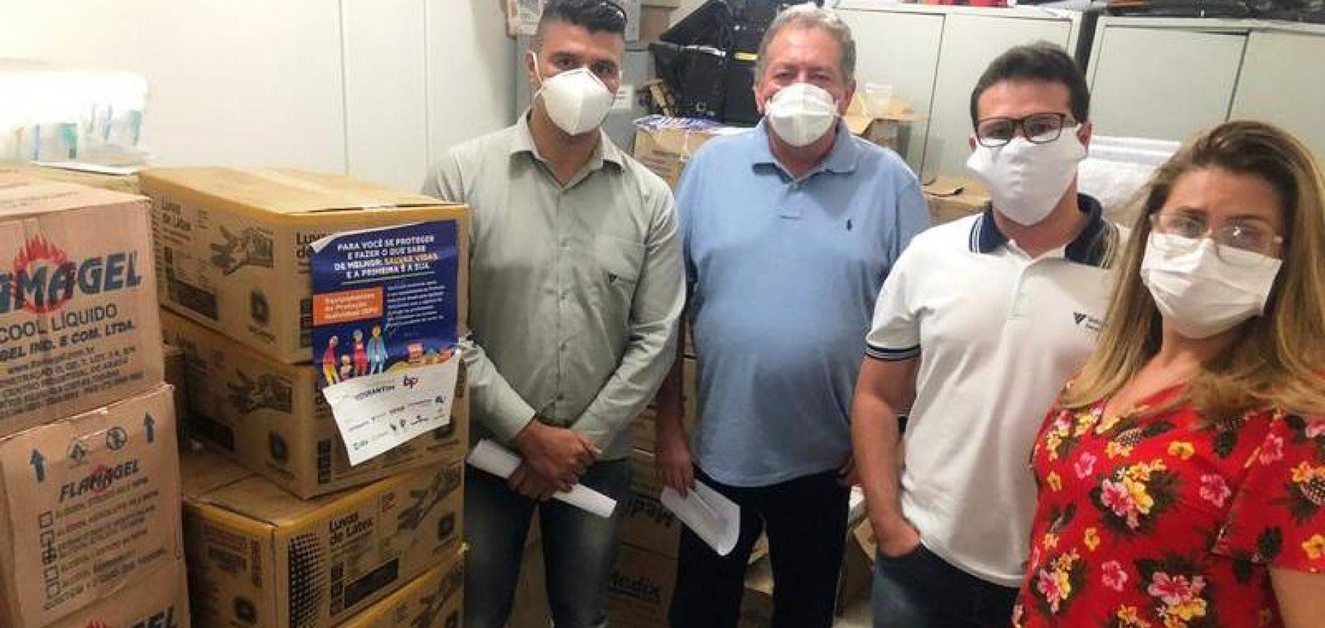 Saúde de Picos recebe doação de EPI's do Instituto Votorantim