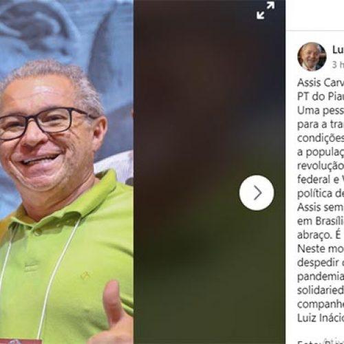 """Lula presta homenagem a Assis Carvalho: """"um amigo que fará falta imensa"""""""