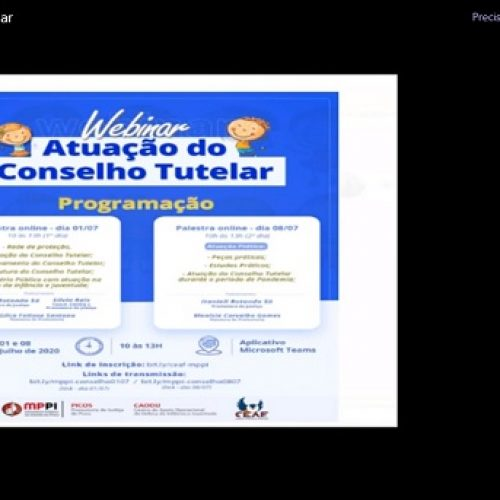MPPI realiza seminário on-line sobre a atuação do conselho tutelar em Picos e mais 15 cidades