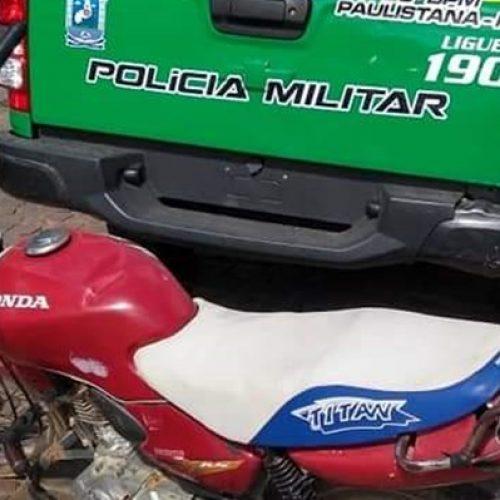 Polícia Militar de Paulistana recupera motocicleta roubada em São Paulo