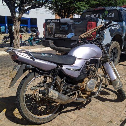 Força Tática de Paulistana apreende motocicleta roubada em São Paulo