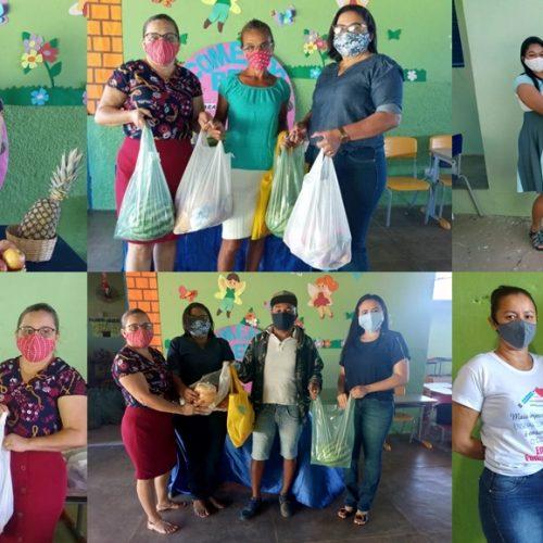 Prefeitura de Vera Mendes desenvolve ações do programa Crescer Saudável e faz entrega da merenda escolar