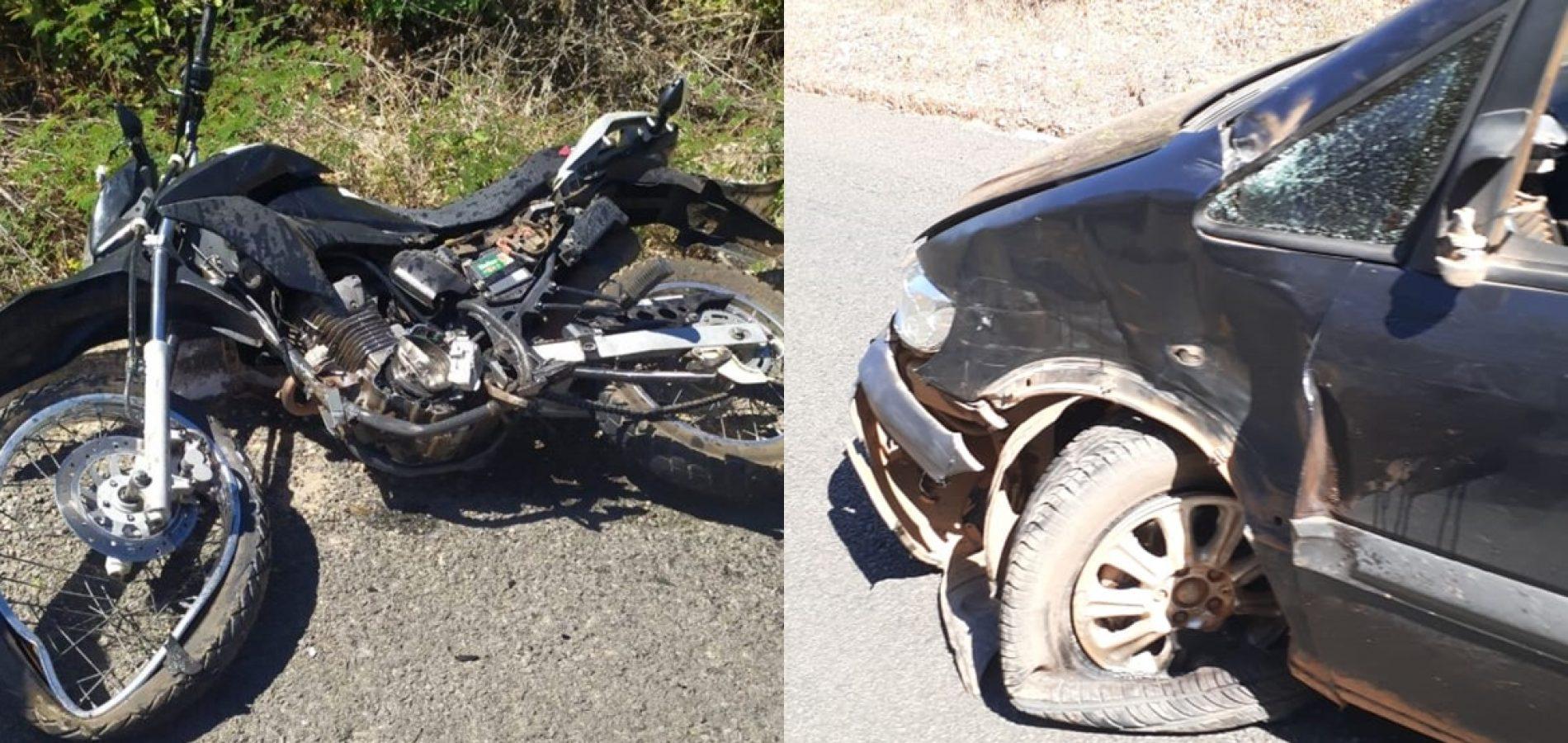 Motociclista morre após desviar de buraco e colidir em carro na PI-143