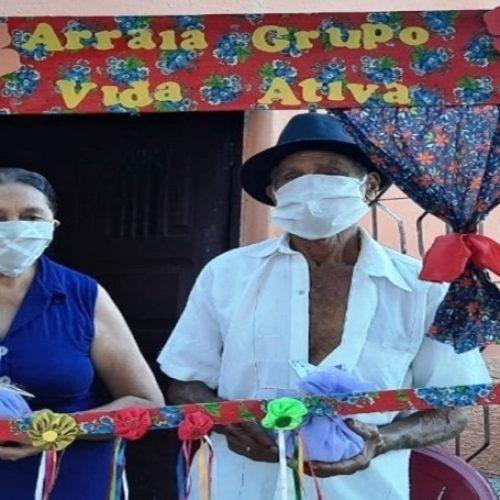 Social de Caldeirão Grande do Piauí leva alegria para os idosos com o Arraiá do Grupo Vida Ativa