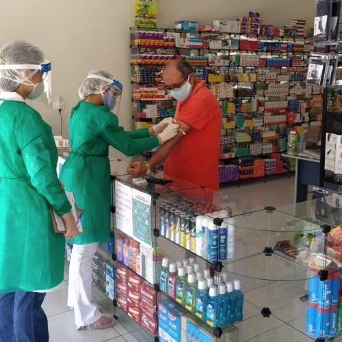 BELÉM   Saúde inicia Busca Ativa e testa comerciantes locais em prevenção a covid-19