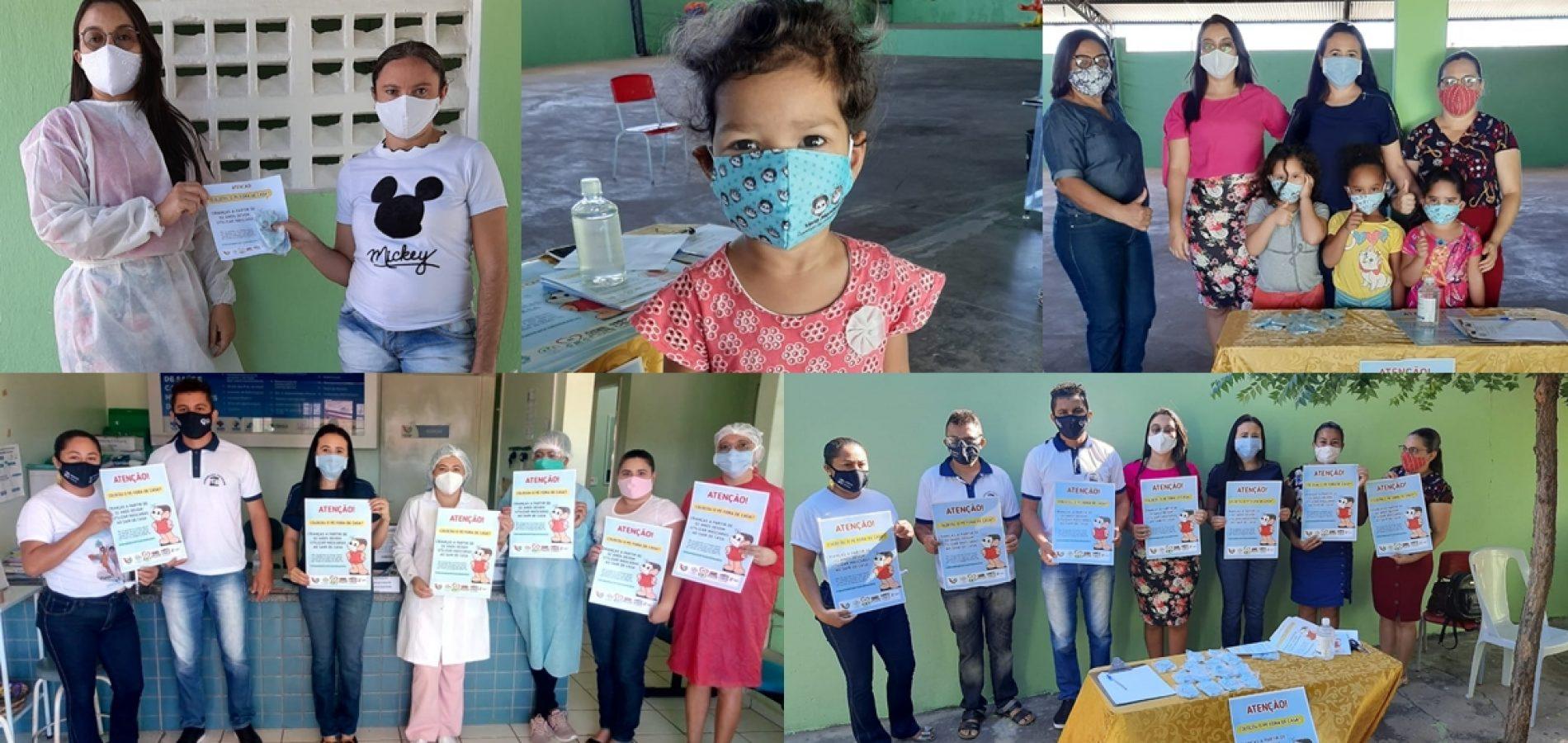 Prefeitura de Vera Mendes distribui máscaras para alunos da Educação Infantil e mobiliza para ouso