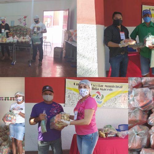 Educação de Padre Marcos conclui a 2ª etapa de entrega da merenda escolar e distribui 1.333 kits para alunos