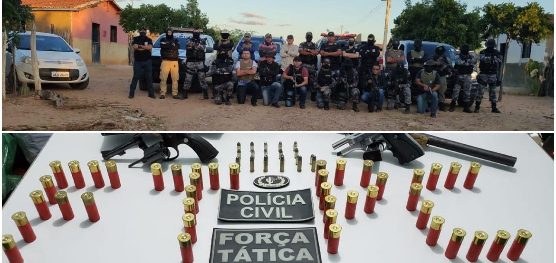Suspeito de praticar dois assassinatos em Paulistana é preso em operação conjunta da PM e PC
