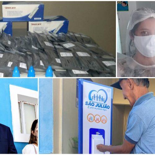 Prefeitura de São Julião adquire mais de 100 testes rápidos e divulga balanço de ações contra Covid-19