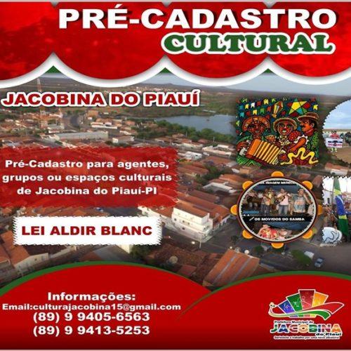 Jacobina do Piauí abre pré-cadastro para profissionais que atuam no setor cultural
