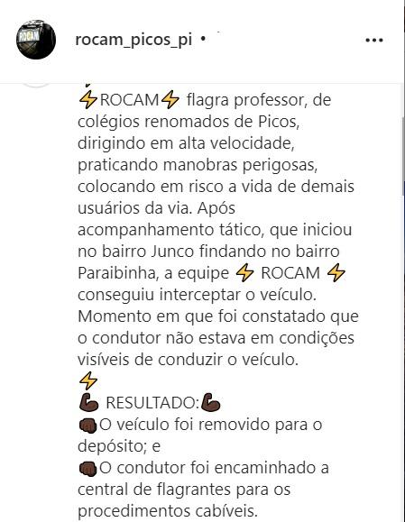 Professor da rede privada é flagrado bêbado e drogado ao volante em Picos 2