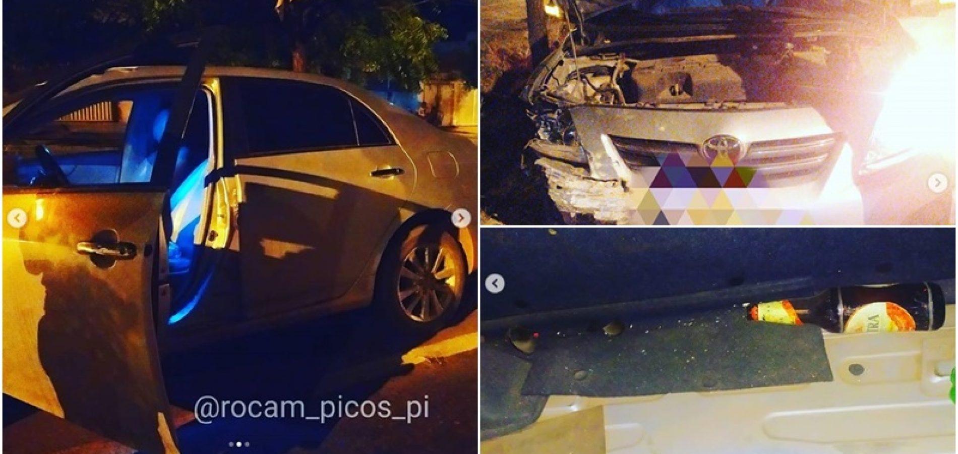 Em Picos, professor da rede privada é flagrado bêbado e drogado ao volante