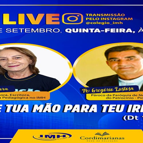 PICOS | IMH realizará live 'Abre Tua Mão Para Teu Irmão'. Confira!