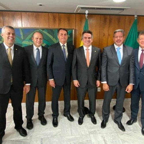 Senador Ciro Nogueira almoça com presidente Jair Bolsonaro