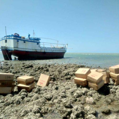 Carga de cigarros apreendida em barco no litoral do Piauí é avaliada em R$ 5 milhões