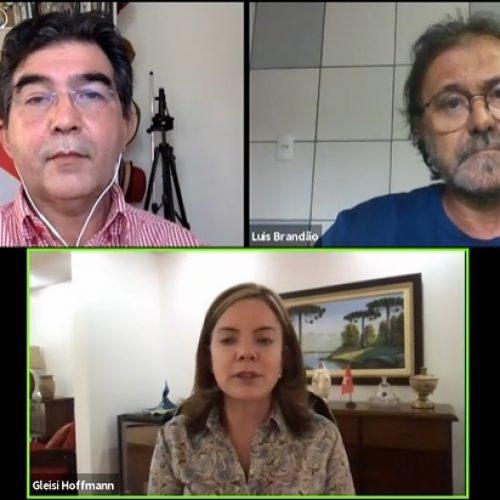 Gleisi Hoffmann critica falta de repasses de recursos do Governo Federal ao Piauí